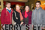Pictured at Mounthawk School Play at Siamsa Tire on Thursday last were l-r:  Colman Moore Denise Buckley Eileen Flanagan and Conor Moore.