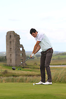 Shane McGlynn (Carton House) on the 13th tee during Round 2 of The South of Ireland in Lahinch Golf Club on Sunday 27th July 2014.<br /> Picture:  Thos Caffrey / www.golffile.ie