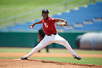 Aaron Calhoun (5) of Clear Brook High School in Pearland, TX during the Perfect Game National Showcase at Hoover Metropolitan Stadium on June 18, 2020 in Hoover, Alabama. (Mike Janes/Four Seam Images)