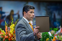 TALLAHASSEE, FLA. 3/7/17-Rep. Jose Oliva, R-Miami Lakes, speaks during opening day of the legislative session at the Capitol in Tallahassee.<br /> <br /> COLIN HACKLEY PHOTO