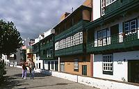 Santa Cruz, Avenida Maritima, Häuser aus dem 16.Jh, La Palma, Kanarische Inseln, Spanien
