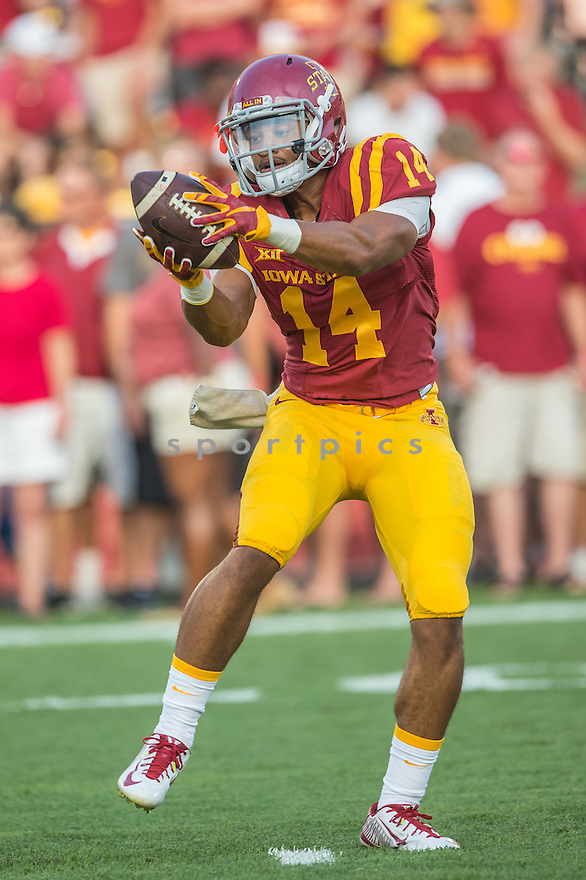 Iowa State Cyclones Darius Lee-Campbell (14) during a game against the Northern Iowa Panthers on September 5, 2015 at Jack Trice Stadium in Ames, Iowa. Iowa State beat Northern Iowa 31-7.