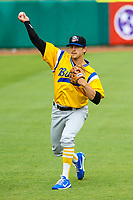 Biloxi Shuckers pitcher Taylor Williams (24) during a Southern League game against the Tennessee Smokies on May 25, 2017 at Smokies Stadium in Kodak, Tennessee.  Tennessee defeated Biloxi 10-4. (Brad Krause/Krause Sports Photography)