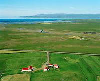 Harrastaðir séð til norðvesturs, Dalabyggð áður Miðdalahreppur / Harrastadir viewing northwest, Dalabyggd former Middalahreppur.