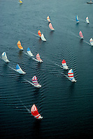 Sailboat race spinnakers Block Island RI