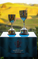 World Cup Sevens trophies. 2018 Hamilton Sevens teams visit Hobbiton in Matamata, New Zealand on Tuesday, 30 January 2018. Photo: Dave Lintott / lintottphoto.co.nz
