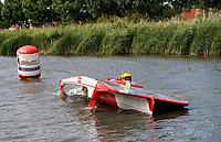 Nederland -  Purmerend - 23 juni  2018.  Solar Sport One race competitie. Wereldkampioenschap Solar Boat racen. Slalom.     Foto Berlinda van Dam Hollandse Hioogte