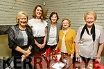 Vera Power, Eleanor and Maureen Sugrue, Maureen Cronin and Helena Leahy attending the Senior Citizens party in John Mitchels on Saturday.