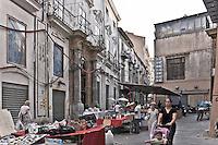 Palermo: Oneto of Sperlinga  Palace (18th century) located in Bandiera street.<br /> Palermo: Palazzo Oneto di Sperlinga (XVIII sec.) in via Bandiera.