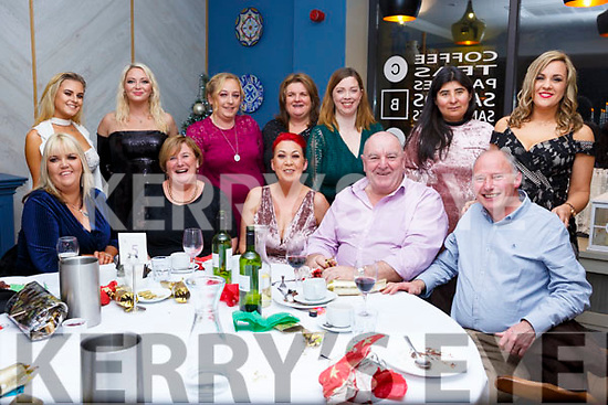 The staff of the Shanakill Resource Centre, Tralee at their Christmas party in Benners Hotel on Saturday night last.<br /> Seated l-r, Regina O&rsquo;Connor, Bernadette O&rsquo;Carroll, Tina Lonergan, Pat O&rsquo;Carroll and Oliver Fahey.<br /> Back l-r, Rebecca O&rsquo;Sullivan, Frances Horgan, Sandra Brosnan, Brenda Giffin, Sarah Mason, Christina Buckley and Jennifer O&rsquo;Carroll.