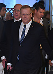 November 29, 2016, Tokyo, Japan - Vice President John Coates of the International Olympic Committee arrives for a four-party meeting to review costs and venues for the 2020 Tokyo Olympics and Paralympics at a Tokyo hotel on Tuesday, November 29, 2016. <br /> The four top-level representatives of the IOC, 2020 Games organizers, the Tokyo Metropolitan and Japanese governments discussed details regarding the venues for rowing/canoe and volleyball based on proposals by the metropolitan government.  (Photo by Natsuki Sakai/AFLO) AYF -mis-