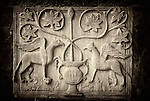 I shot this on the walls of St. Mark's Basilica.  It was just a little panel, perhaps a foot and a half long by a foot high.  All by itself.  I wondered whether it was loot stolen from Byzantium during the Fourth Crusade.  So much in the Basilica is loot (e.g., the four horses).