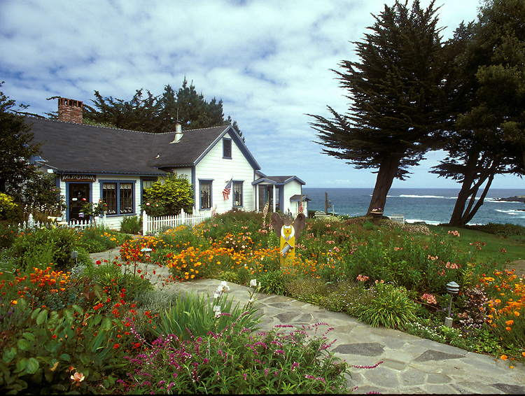 View of Agate Cove Inn, Mendocino, California
