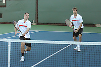 STANFORD, CA - NOVEMBER 16:  Bradley Klahn and Ryan Thacher of the Stanford Cardinal during photo day on November 16, 2009 at the Taube Family Tennis Stadium in Stanford, California.