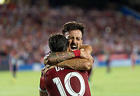 Frisco, TX. - September 13, 2016: FC Dallas takes a 2-1 lead over the New England Revolution with Maximiliano Urruti and Mauro Díaz adding goals during the 2016 U.S. Open Cup Final at Toyota Stadium.
