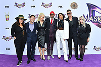 """LOS ANGELES - JUNE 4: From left: Ricki Lake, Ken Jeong, Jenny McCarthy, Nick Cannon, Nicole Scherzinger, Robin Thcke and Marina Toybina attend an Emmy FYC event for Fox's """"The Masked Singer"""" at Westfield Century City on June 4, 2019 in Los Angeles, California. (Photo by Vince Bucci/Fox/PictureGroup)"""