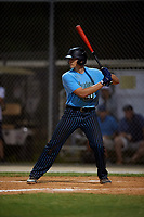 Gavin Kash during the WWBA World Championship at the Roger Dean Complex on October 19, 2018 in Jupiter, Florida.  Gavin Kash is a first baseman from Sour Lake, Texas who attends Monsignor Kelly Catholic High School.  (Mike Janes/Four Seam Images)