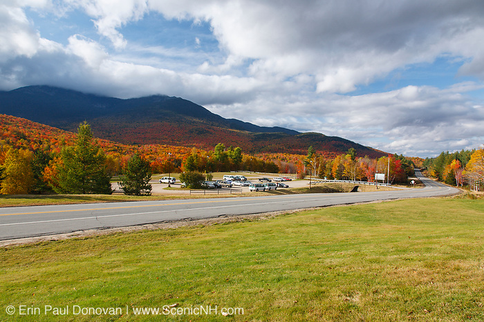 Mount Washington Valley - Route 16 in Pinkham Notch in Green's Grant, New Hampshire during the autumn months. The scenery in the Mount Washington Valley is spectacular during the autumn foliage season.