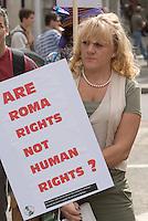 Roma Demo French Embassy Knightsbridge 4th September 2010.