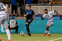 San Jose, CA - Tuesday June 11, 2019: Cade Cowell #44 during the US Open Cup match between the San Jose Earthquakes and Sacramento Republic FC at Avaya Stadium.