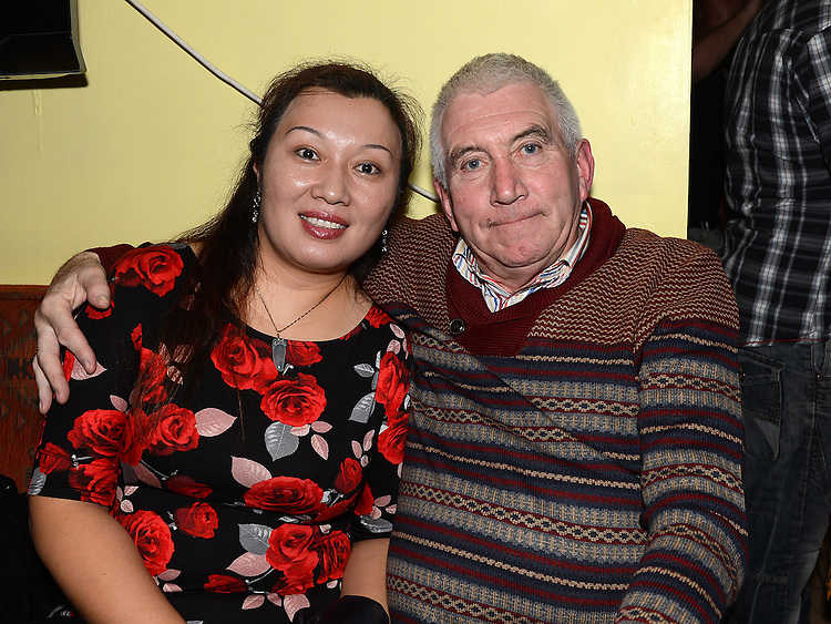 John Conlon and Lily Wong pictured at the Ardee Celtic awards night in Butterly's Bar. Photo:Colin Bell/pressphotos.ie