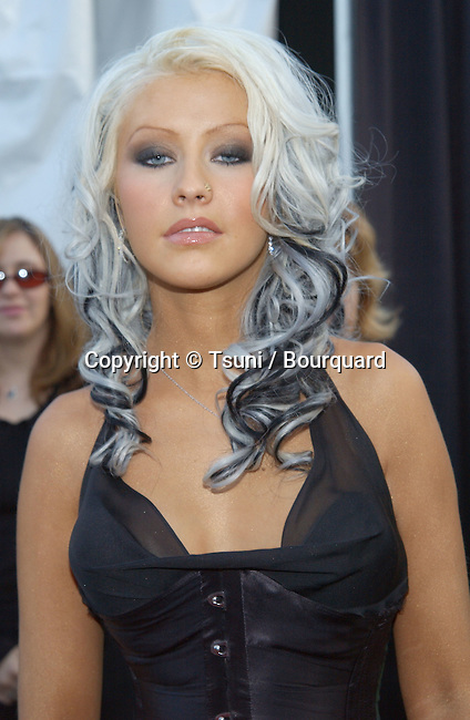 Christina Aguilera arrives at the 30th Annual AMAs held at the Shrine Auditorium in Los Angeles, CA, January 13, 2003.
