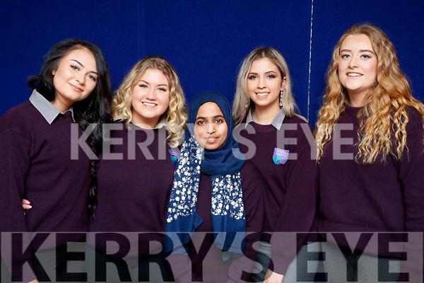 Violetta Sik, Abbie O'Sullivan, Areej Saghir, Michaela Hrachovinova and Sophie Barrett, who graduated from Coláiste Gleann Lí, on Friday afternoon last.