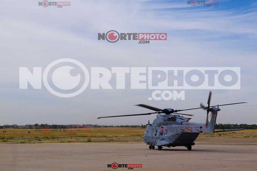 17.09.2012. King Juan Carlos of Spain attends a Helicopter NH-90 flight in Cuatro Vientos Air Base, Madrid. In the image King Juan Carlos of Spain in Helicopter NH-90 (Alterphotos/Marta Gonzalez) /NortePhoto<br /> <br />  **CREDITO*OBLIGATORIO** *No*Venta*A*Terceros*<br /> *No*Sale*So*third* ***No*Se*Permite*Hacer Archivo***No*Sale*So*third*