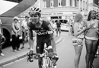 Luke Rowe (GBR/SKY) returning to the teambus post-race<br /> <br /> stage 4: Seraing (BEL) - Cambrai (FR) <br /> 2015 Tour de France