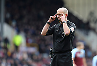 Referee Michael Dean<br /> <br /> Photographer Rich Linley/CameraSport<br /> <br /> The Premier League - Saturday 13th April 2019 - Burnley v Cardiff City - Turf Moor - Burnley<br /> <br /> World Copyright © 2019 CameraSport. All rights reserved. 43 Linden Ave. Countesthorpe. Leicester. England. LE8 5PG - Tel: +44 (0) 116 277 4147 - admin@camerasport.com - www.camerasport.com