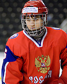 Pavel Zotov (Russia - 16) - Russia defeated Finland 4-0 at the Urban Plains Center in Fargo, North Dakota, on Friday, April 17, 2009, in their semi-final match during the 2009 World Under 18 Championship.