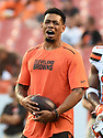 CLEVELAND, OH - AUGUST 18, 2016: Cornerback Joe Haden #23 of the Cleveland Browns stands on the field prior to a preseason game on August 18, 2016 against the Atlanta Falcons at FirstEnergy Stadium in Cleveland, Ohio. Atlanta won 24-13. (Photo by: 2016 Nick Cammett/Diamond Images) *** Local Caption *** Joe Haden