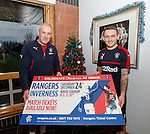 Mark Warburton with Lee Hodson promoting Christmas Eve at Ibrox for Rangers v Inverness
