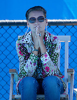 Erina Davydenko watching her husband Nicolay Davydenko on the practice court..International Tennis - Australian Open Tennis -  Tues 26  Jan 2010 - Melbourne Park - Melbourne - Australia ..© Frey - AMN Images, 1st Floor, Barry House, 20-22 Worple Road, London, SW19 4DH.Tel - +44 20 8947 0100.mfrey@advantagemedianet.com