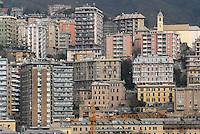 - houses of Genoa seen from the harbor....- le case di Genova viste dal porto