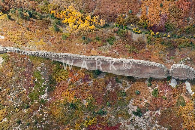 Natural stone dike, foothills of Spanish Peaks, near La Veta, CO