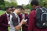 Sherwin Stowers. Training. Roslyn Park, London, England. Photo: Marc Weakley