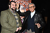 Ryan Ward and Kreskin attend &quot;The Amazing Kreskin&quot; <br /> Off Broadwy show on April 11, 2018 at the Lion Theatre in New York City. <br /> <br /> photo by Robin Platzer/Twin Images<br />  <br /> phone number 212-935-0770