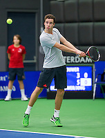 Rotterdam,Netherlands, December 15, 2015,  Topsport Centrum, Lotto NK Tennis, Maikel Borg (NED)<br /> Photo: Tennisimages/Henk Koster