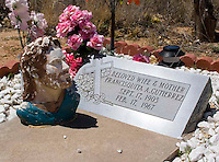 Grave at the cemetery behind the San Antonio Mission located at the Piro Indian Pueblo in New Mexico.