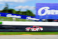 July 16, 2017 - Loudon, New Hampshire, U.S. - Kyle Larson, Monster Energy NASCAR Cup Series driver of the Target Chevrolet (42), races at the NASCAR Monster Energy Overton's 301 race held at the New Hampshire Motor Speedway in Loudon, New Hampshire. Eric Canha/CSM