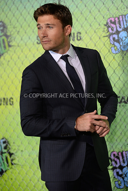 www.acepixs.com<br /> August 1, 2016  New York City<br /> <br /> Scott Eastwood attending the world premiere of Warner Bros. Pictures and Atlas Entertainment&rsquo;s 'Suicide Squad' at the Beacon Theatre on August 1, 2016 in New York City.<br /> <br /> <br /> Credit: Kristin Callahan/ACE Pictures<br /> <br /> <br /> Tel: 646 769 0430<br /> Email: info@acepixs.com