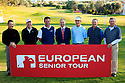 All six winning card holders with Andy Stubbs, Managing Director of European Senior Tour pose for the media after the final round European Senior Tour Qualifying School Finals played at Pestana Pinta Resort on 2nd February 2012 in Vale da Pinta, Carvoeiro, Portugal. (Picture Credit / Phil Inglis)