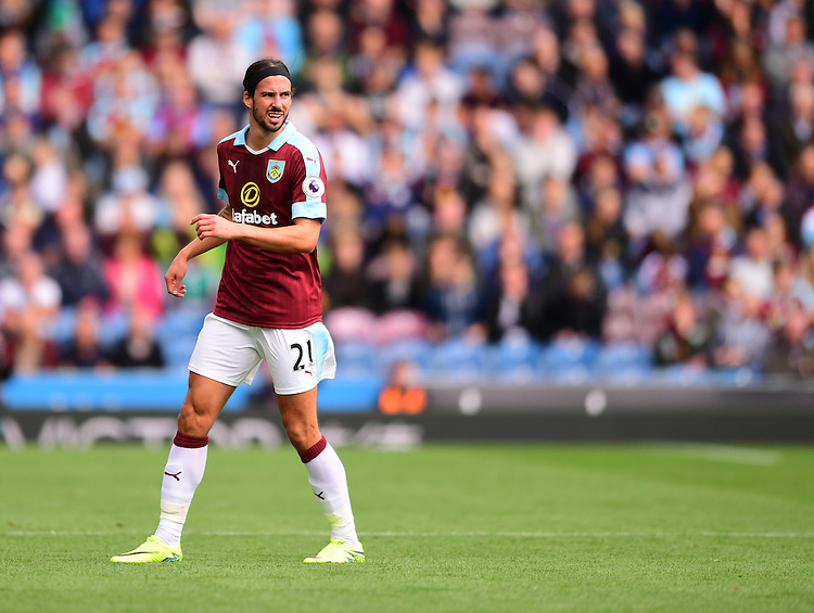 Burnley's George Boyd<br /> <br /> Photographer Chris Vaughan/CameraSport<br /> <br /> Football - The Premier League - Burnley v Swansea City - Saturday 13th August 2016 - Turf Moor - Burnley<br /> <br /> World Copyright &copy; 2016 CameraSport. All rights reserved. 43 Linden Ave. Countesthorpe. Leicester. England. LE8 5PG - Tel: +44 (0) 116 277 4147 - admin@camerasport.com - www.camerasport.com