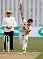Grant Stewart bowls for Kent during the County Championship Division 2 game between Kent and Gloucestershire at the St Lawrence Ground, Canterbury, on Fri 13 Apr, 2018.