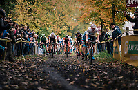Right off the start, Mathieu van der Poel (NED/Corendon-Circus) takes control of the race<br /> <br /> Men's race<br /> Superprestige Asper-Gavere 2018 (BEL)