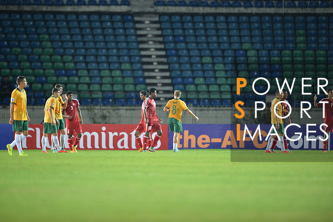 Australia vs United Arab Emirates during the 2014 AFC U19 Mens Championship group B match on October 10, 2014 at the Thuwunna Stadium, in Yangon, Myanmar. Photo by World Sport Group