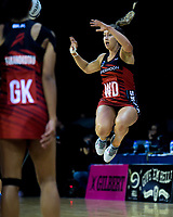 Tactix wing defence Charlotte Elley during the ANZ Premiership netball match between the Central Pulse and Mainland Tactix at TSB Bank Arena in Wellington, New Zealand on Monday, 14 May 2018. Photo: Dave Lintott / lintottphoto.co.nz