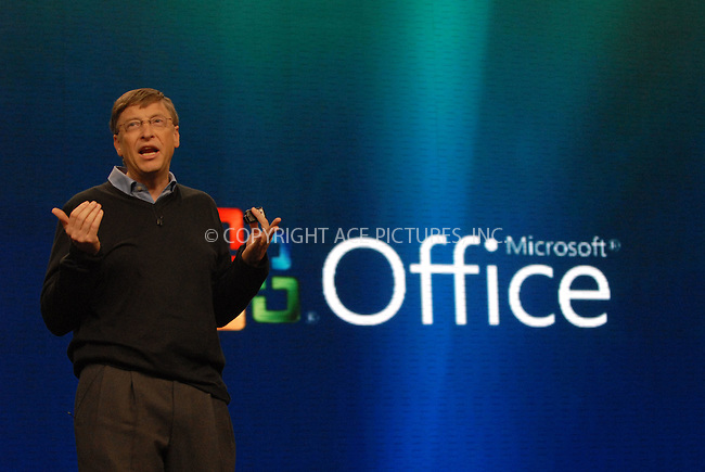 WWW.ACEPIXS.COM . . . . . ....January 29, 2007, New York City.....Microsoft founder Bill Gates speaks during the press conference at the Microsoft Windows Vista operating system launch in New York.....Please byline: KRISTIN CALLAHAN - ACEPIXS.COM.. . . . . . ..Ace Pictures, Inc:  ..(212) 243-8787 or (646) 679 0430..e-mail: picturedesk@acepixs.com..web: http://www.acepixs.com
