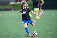 Boston, MA - Saturday April 29, 2017: Allysha Chapman during warmups before a regular season National Women's Soccer League (NWSL) match between the Boston Breakers and Seattle Reign FC at Jordan Field.